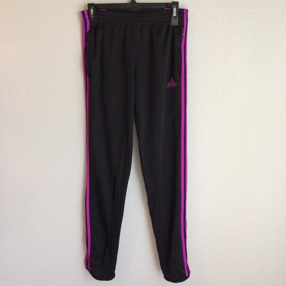 9371a3e02111 adidas Pants - Adidas Black   Purple Climacool Track Pants